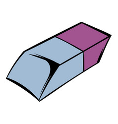eraser icon cartoon vector image