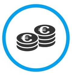 Euro Coins Rounded Icon vector
