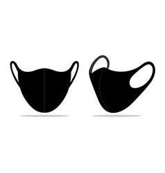 Facemask mockup icon black face mask ppe vector