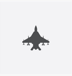 fighter airplane icon vector image