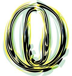 font letter o vector image