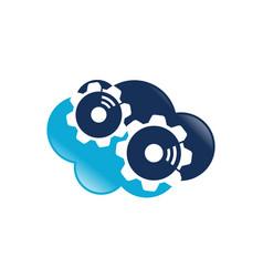 gear cloud logo design template vector image