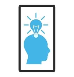 Genius Bulb Framed Icon vector