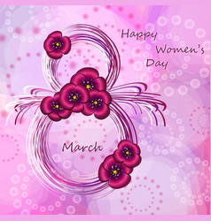 Greeting card for women s day vector