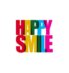 happy smile template design vector image