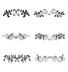 High quality original set of floral elements for vector