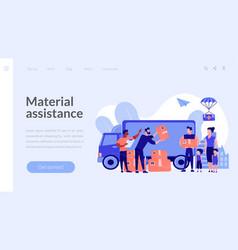 Humanitarian aid concept landing page vector