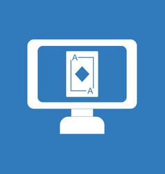 Icon ace of diamonds screen vector