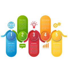 Infographics with steps or options vector