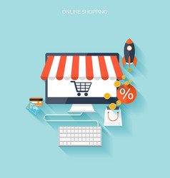 Internet shopping concept E-commerce Online vector