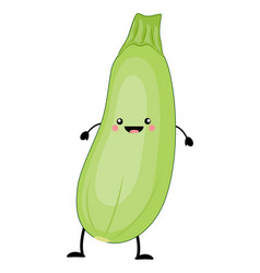 kawaii cartoon zucchini vector image