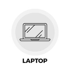 Laptop Line Icon vector