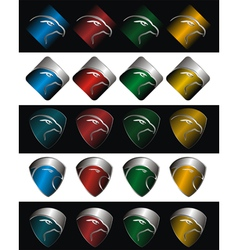 Logo falcon vector