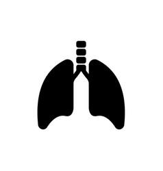 Lungs and trachea human respiratory organ flat vector