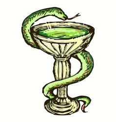 Medical snake vector