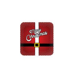 merry christmas santa claus suit theme vector image