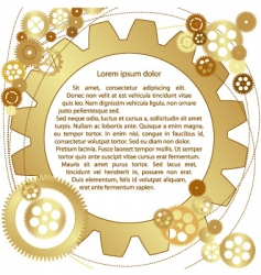 metallic gears background vector image