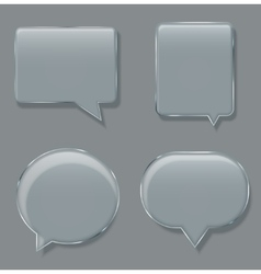 modern glass bubble speech on sample vector image