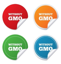 No GMO sign Without Genetically modified food vector