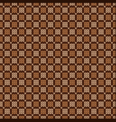 Nordic style ornament grid pattern seamless wool vector