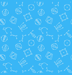 Pen tool blue seamless pattern vector