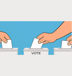 presidential election hand places ballot vector image