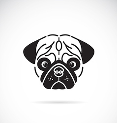 Pugs face vector