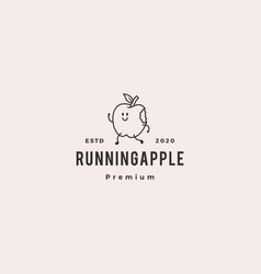 running apple logo hipster vintage retro icon vector image