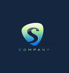 S letter logo oval shape modern design vector