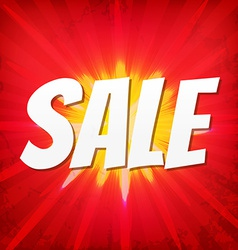 Sale Red Poster vector