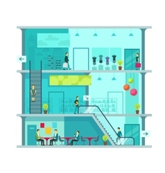 Scene inside shopping mall vector