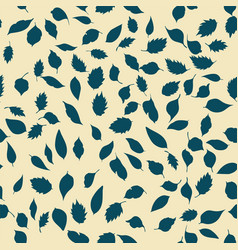 Seamless pattern leaves vector