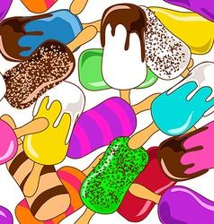 Seamless pattern of ice cream vector