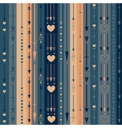 Seamless pattern of the color vertical arrows vector image