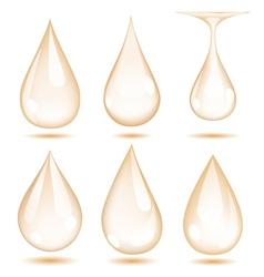 Set of opaque drops vector