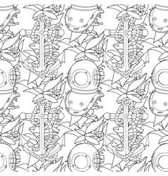 Ship equipment seamless pattern vector image