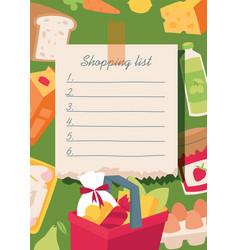 Shopping list banner vector
