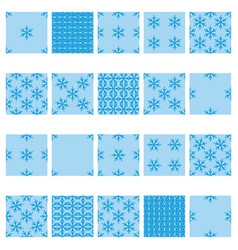 simple snowflake seamless set 02 vector image