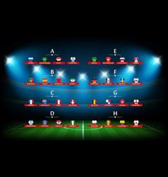 Soccer tournament scheme soccer arena illuminated vector