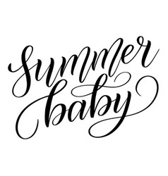 Summer baby script lettering vector