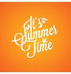 summer holiday vintage lettering background vector image