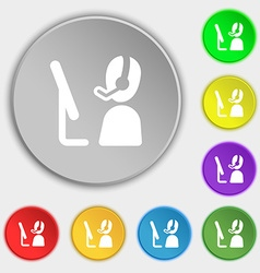 Telemarketing icon sign Symbol on eight flat vector image