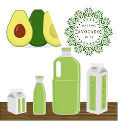 The theme avocado vector
