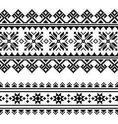 Traditional folk Ukrainian embroidery pattern vector