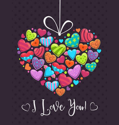 valentines day romantic greeting card love vector image