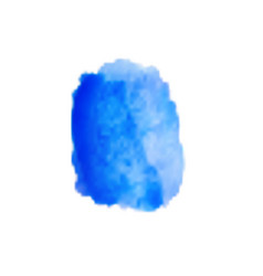 Watercolor blue smear on white background vector