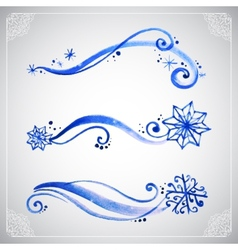 Watercolor winter frost ornament vector image