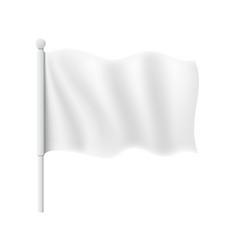 wavy flag mockup vector image