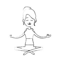 yogi meditating icon image vector image
