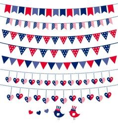American flag themed vector